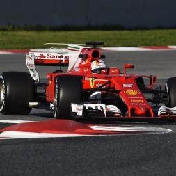 F1 2017 vs. Real Life Ferrari SF70H @ Barcelona