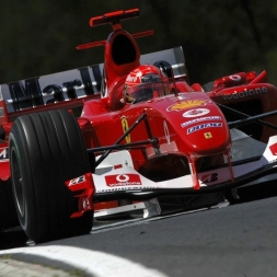 F1 2017 vs. Real Life Ferrari F2004 @ Melbourne