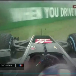 F1 2017 Monza Qualify - Grosjean Crash Q1