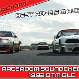 RACEROOM R3E Soundcheck Part 2 - 1992 DTM DLC - Best Sounding Race Sim Ever!!!