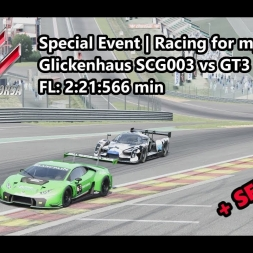 Assetto Corsa | Special Event Racing for my sister | Glickenhaus SCG003 vs GT3 @ Spa FL:2:21:566 min