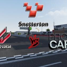 Assetto Corsa vs. Project Cars at Snetterton [comparison]