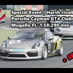 Assetto Corsa | Special Event Harsh rivality | Porsche Cayman GT4 Clubsport @ Mugello 1:58:290 min