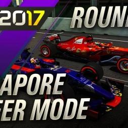 F1 2017 Career Mode Round 14 Singapore GP