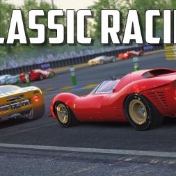 The Ferrari 330 P4 is AMAZING! Ferrari 330 P4 vs GT40 at Le Mans - Classic Racing - Assetto Corsa