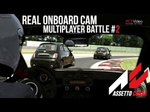 [ Assetto Corsa ] Multiplayer Battle #2   Abarth 500   Magione   Real Onboard Cam