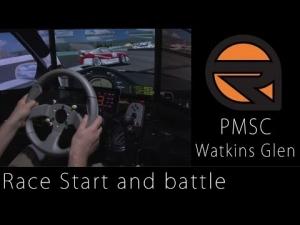 PMSC Watkins Glen race start and battle