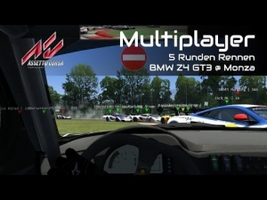 "Assetto Corsa - Multiplayer Race #3 ""Pinball-Start und weiter..."" @ Monza [HD]"
