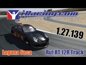iRacing - Ruf RT 12R Track : 1.27.139 Laguna Seca -Triple Monitors Eyefinity