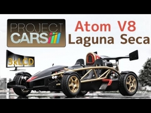 Project CARS Ariel Atom 500 V8 early morning at Lagun Seca 3xLCD