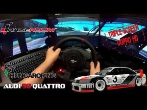 Audi 90 Quattro @ Hungaroring - Raceroom (GoPro, TH8 Manual, Triple Screen)
