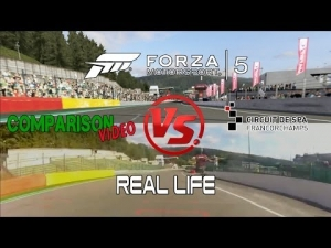 Forza Motorsport 5 Vs Real Life @ Spa Francorchapms Comparison
