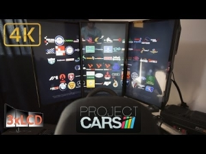Triple Screen simracing fun Project Cars vertical 3LCD Ultra 4K