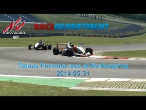Assetto Corsa MP - Tatuus Race at Nurburgring GP (fight for 2nd place)
