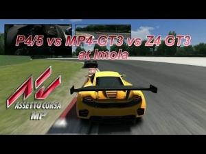 Assetto Corsa MP - Imola GT3 battle (MP4 vs P4/5 and Z4)