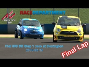 Assetto Corsa MP - Fiat 500 at Donington National (final lap battle)