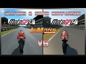 MotoGP 14 vs MotoGP 13 - Graphics & Sound Comparison @ Le Mans