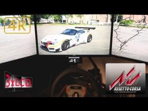 Assetto Corsa Triple Screen in Ultra settings 4K BMW Z4 GT3 Nordschleife