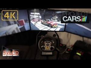 Project CARS Triple Screen in Ultra settings 4K BMW M3 E92 GT4 at Nürburgring Nordschleife sun/rain