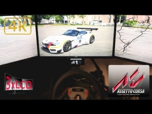 Assetto Corsa Triple Screen in Ultra settings 4K BMW Z4 GT3 Nordschleife