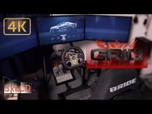 *NEW* GRID Autosport Triple Screen  Codemaster 4K Ultra first ride