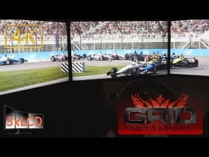 *NEW* GRID Autosport Dallara IndyCar at Indianapolis race 3xLCD Ultra settings