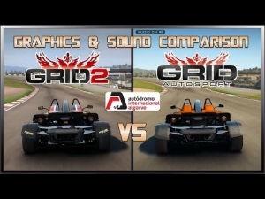 GRID Autosport vs GRID 2 - Graphics & Sound (KTM X-Bow R @ Algarve)