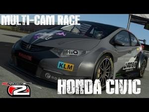 rFactor2 - ISI Honda Civic BTCC - Multi-Cam Race @ Sebring Short Course