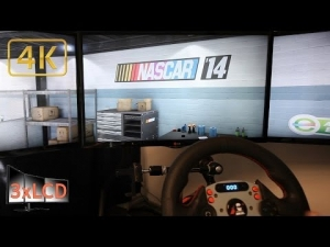 Nascar 2014 Tripple Screen 4K Ultra settings race, tuning, pit stop
