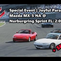 Assetto Corsa | Special Event Joyful Parade | Mazda MX-5 NA @ Nurburgring Sprint  FL: 2:01:090 min