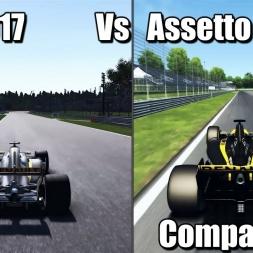 F1 2017 Vs Assetto Corsa Comaprison - 1440p 2k