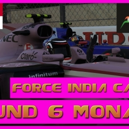 F1 2017 Career Mode Force India - Round 6 Monaco - Penalties All Round