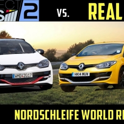 [World Record] Project Cars 2 vs Real-Life Nordschleife Lap Comparison - Mégane RS 275 Trophy-R