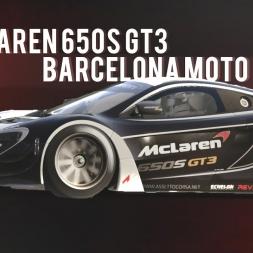 Assetto Corsa | Mclaren 650S GT3 - Barcelona Moto lap
