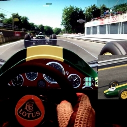pC2 - Rouen-les-Essarts - Lotus 25 - 105% AI race