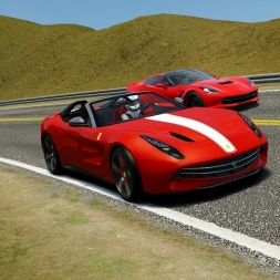 Ferrari F60 America Chasing SuperCars on Pacific Coast (2k)  - Assetto Corsa
