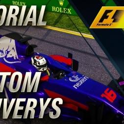 F1 2017 CUSTOM CAR LIVERY'S TUTORIAL