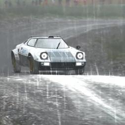 [DiRT Rally] - Lancia Stratos - Dyffryn Afon rev, Wales - 04:08.123 - Rain - G27 FHD@50
