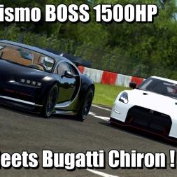 Nissan GT-R NISMO Boss 1500hp Meets Bugatti Chiron SS - Assetto Corsa 4k