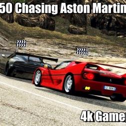 Ferrari F50 Chasing Aston Martin Vulcan Through Traffic - Assetto Corsa 4k