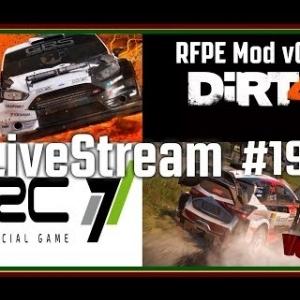 LiveStream #19 - Dirt 4 - RFPE Mod v0.3 + WRC 7 (PT/ENG)