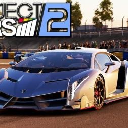 Project CARS 2 - Lamborghini Veneno at Le Mans Bugatti Circuit (PT-BR)