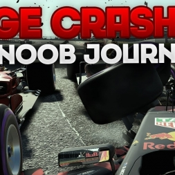 HUGE CRASHES! - F1 2017 THE NOOB JOURNEY SEASON 3: BELGIUM #2 (Featuring Matt212)