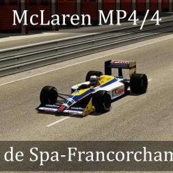 Assetto Corsa: McLaren MP4/4 // Circuit de Spa-Francorchamps '88 (VR)
