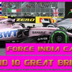 F1 2017 Career Mode Force India - Round 10 Great Britain - Strategy Errors