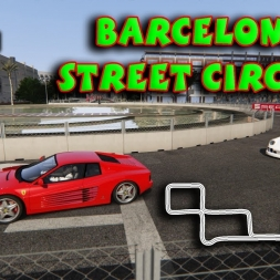 Assetto Corsa * BARCELONA STREET CIRCUIT by SIMTRAXX [laserscanned]