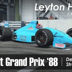 rFactor 2 - F1 1988 - Leyton House March 881 @ Detroit (vs AI)