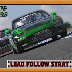 """iRacing: Lead Follow Strat"" (ABL Mazda MX-5's at Phillip Island)"