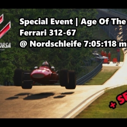 Assetto Corsa | Special Event Age Of The Bravest | Ferrari 312-67 @ Nordschleife 7:05:118 min