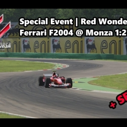 Assetto Corsa | Special Event Red Wonder | Ferrari F2004 @ Monza 1:21:879 min